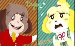 ACNL: Digby and Isabelle by Pig-Demon