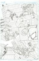 Spider-Man page pencil by fragcomics