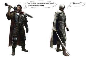 Guts and Griffith in Dragon's Dogma by DarkKomet
