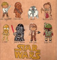Star Wars Chibis by Pinkie-Perfect