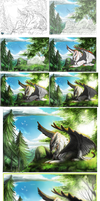 Step By Step + Artist tips: Solitude by Black-Wing24
