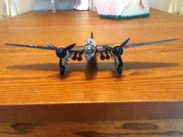Junkers Ju-88: Front View by cloudyrainbow561