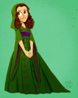 Green Velvet Gown by Emmacabre