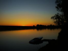 Lazy River Sunset by Marilyn958