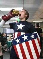 All American Captain with an all American Burger by creativesnatcher69