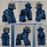 Master Chief Hayabusa Armor by customlpvalley