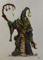 Night Goblin Shaman by Solomon-Mordecai