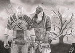 The Witcher pencil drawing by MilanRKO
