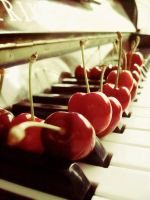 Cherry keys by Leaves-in-the-wind