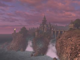 Fantasy castle background 4 by indigodeep