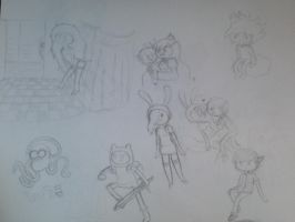 Adventure Time doodles by Midnight-Wolfi3