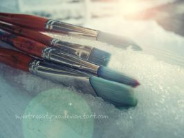 painting snow by sweet-reality-xo