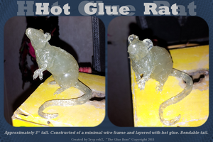 Hot Glue Rat by MinimalistFish