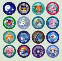 Animal Crossing New Leaf Buttons by Valen-LaRae
