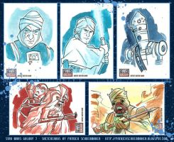 Star Wars Galaxy 7 sketchcards by PatrickSchoenmaker