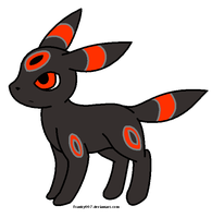 Lucy in her Umbreon form by ErentheAuraWolf