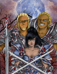 Aelys, Beeren, and Aeran by doll-fin-chick