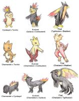 Crossbreeds: Fire starters by ShrubSparrow