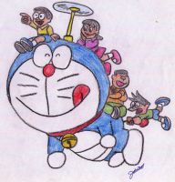 doraemon by jaecelann