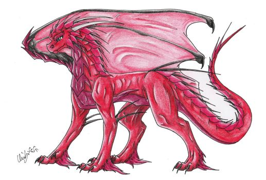 Red Dragon Design by ChibiMieze