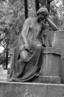 grave statue of a girl by Jantiff-Stocks