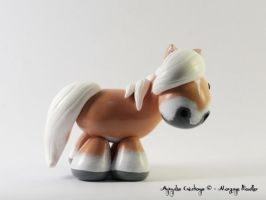 Custom horse (Haflinger: flaxen chestnut) by AnimalisCreations