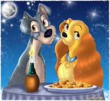 Lady and the Tramp by Laurine-Tellier