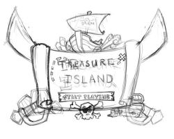 Pirate Splash Concept Sketch by ethician