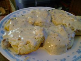 Biscuit and Gravy by aragornsparrow