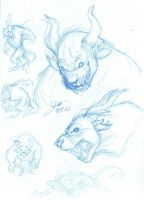 Charr sketches by elipse