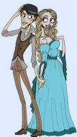 Uptown girl and Downtown guy by BoneJanglesandEmily