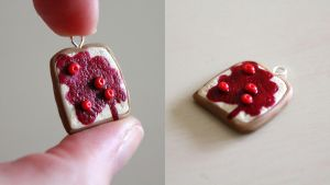 Clay toast with cherry jam. by whatever-you-call-it