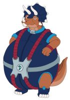 Tricero the really fat Triceratops by MCsaurus