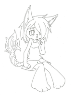 commission sample: Chibi line art by ManicPixieNightmares