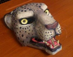 Snow Leopard Mask by SabrePanther