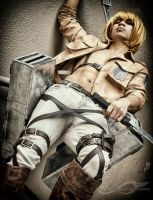 Shirtless Armin Arlert Cosplay by Jrzil4shizzle