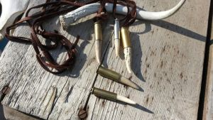 Antler point and Bullet Casing by Minotaur-Queen
