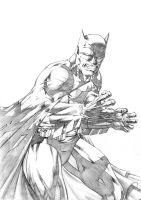 Batman raging by vincent-fourneuf