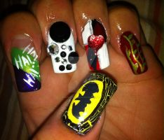 Batman nails by pierrettepaola