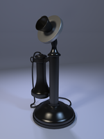3D Model: Vintage Telephone by ark4n