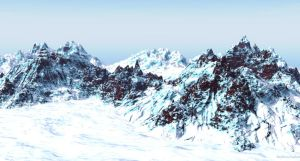 Glacier and mountain by asylumseaker