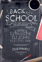Back to School Party Flyer by styleWish