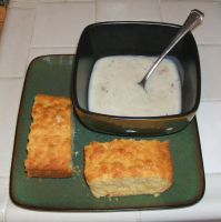 Cornbread and Clam Chowder by Vivienne-Mercier