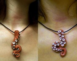 Giant Pacific Octopus Necklace by FlyingSaucerTeacup