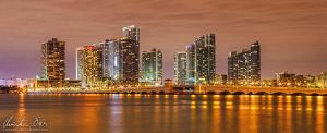 Miami Skyline Panorama 01 by Nightline