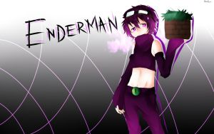 Enderman OC background by BonBonMui