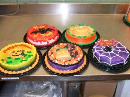 Halloween Cakes by Nimhel