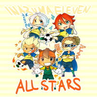 Inazuma Eleven All star charm set [PreOrder] by Cakes-and-Carpets