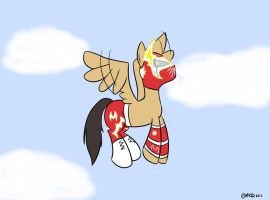 Fluttering MLP Sin Cara by MysteryFanBoy718