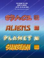 space theme text styles by dabbex30